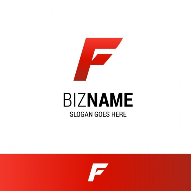 Geometric red logo with the letter f Vector