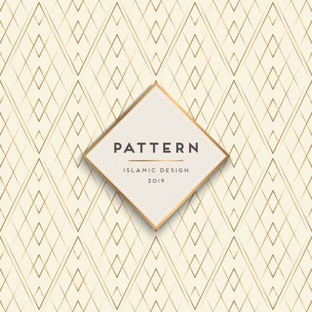Geometric seamless pattern background Free Vector
