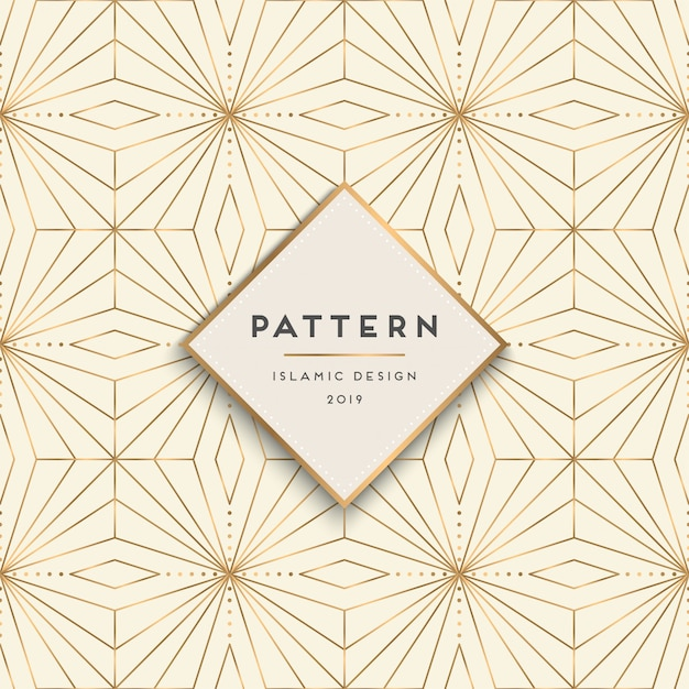 Geometric seamless pattern background Free Vector