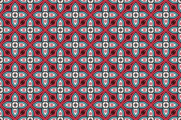 幾何学的なシームレスパターン、円要素 無料ベクター