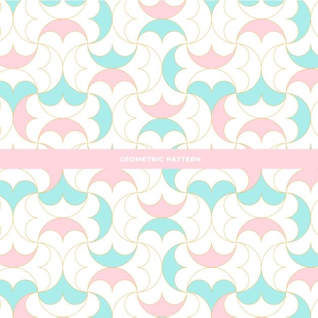 Geometric seamless pattern design Free Vector