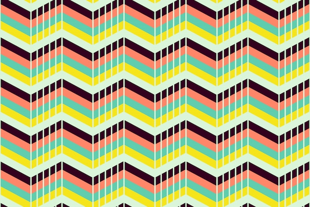 Geometric seamless pattern with abstract stripe Premium Vector
