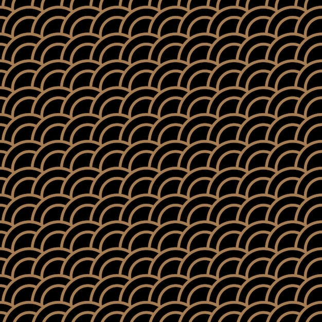 Geometric seamless pattern with stylized waves Premium Vector
