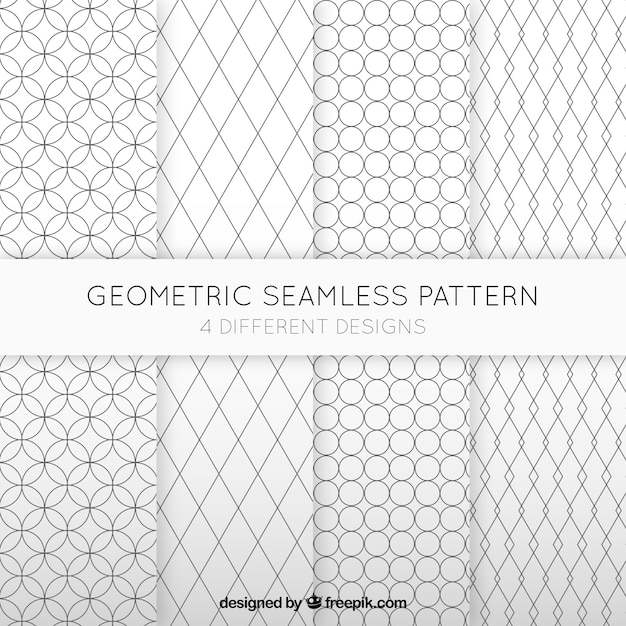 Geometric Seamless Patterns Collection Vector Free Download Inspiration Free Vector Geometric Patterns