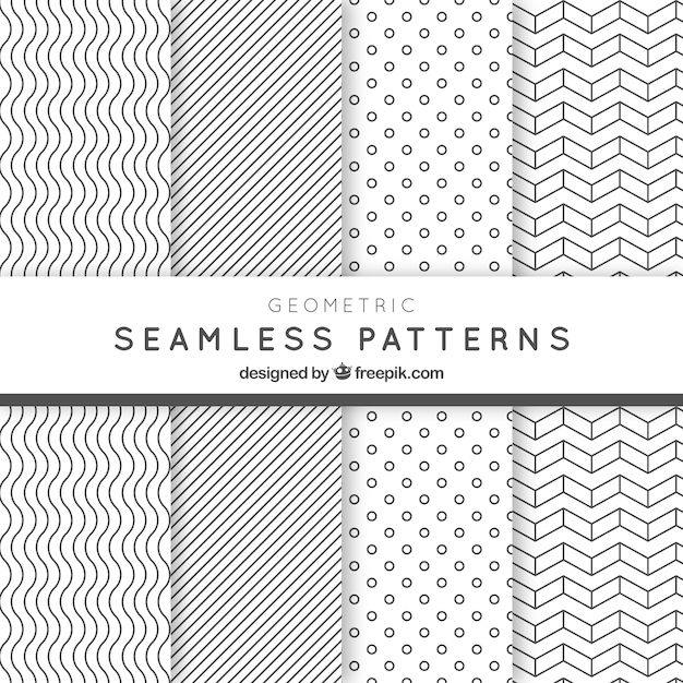 Geometric Seamless Patterns Pack Vector Premium Download Amazing Free Vector Geometric Patterns