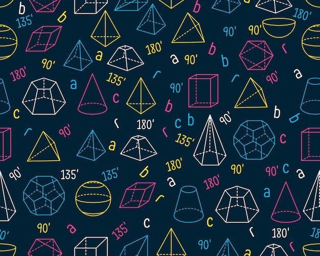 Geometric seamless texture pattern Premium Vector