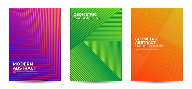 Geometric shape abstract background set Premium Vector