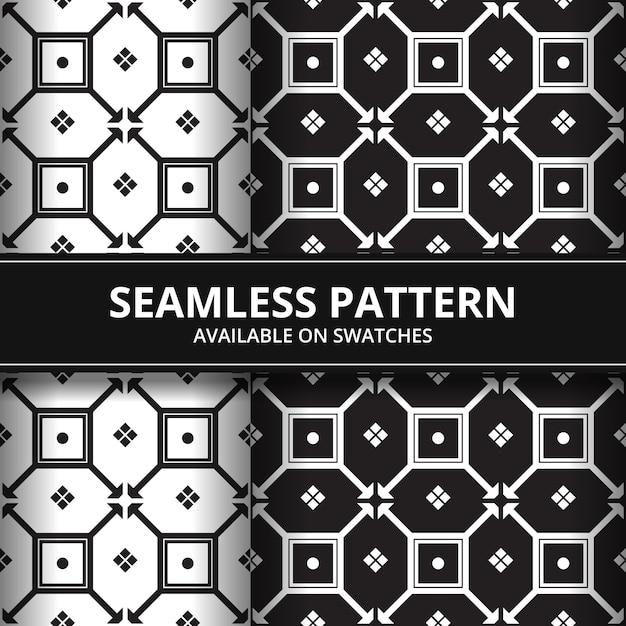 Geometric Shape Batik Seamless Pattern Background