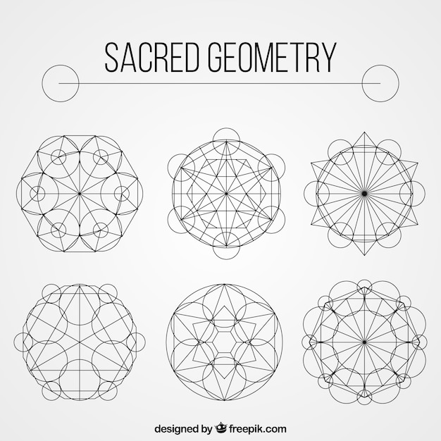 Geometric shape collection Vector | Free Download