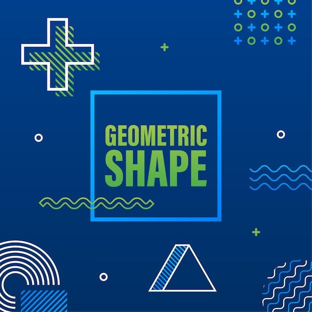 ヴィンテージスタイルの幾何学的形状。明るい色。黒の抽象的な幾何学的な背景。ストックイラスト。 Premiumベクター