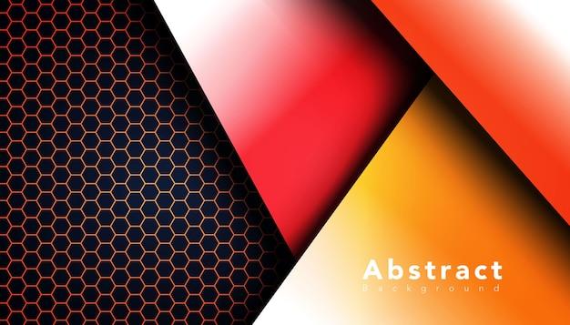 Forma geometrica con sfondo motivo esagonale Vettore gratuito
