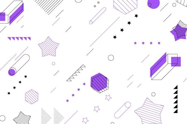 幾何学的形状と星の背景 無料ベクター