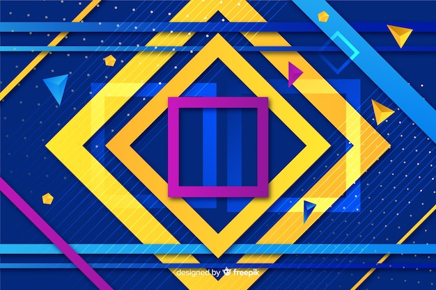 Geometric shapes background design Free Vector