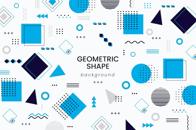 Geometric shapes background in flat design Free Vector