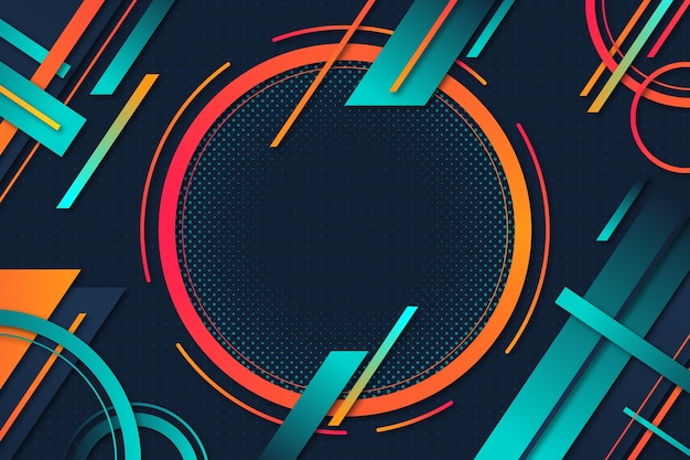 Geometric shapes background gradient design Free Vector