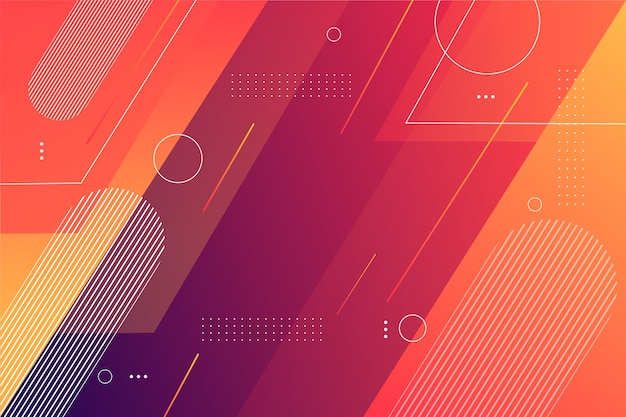 Geometric shapes background in gradient Free Vector