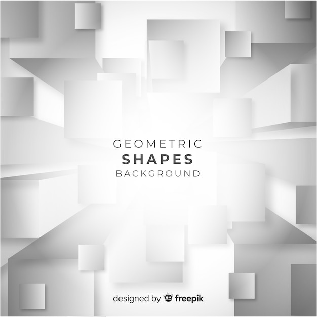 Geometric shapes background Free Vector