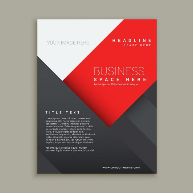 geometric shapes brochure template vector free download