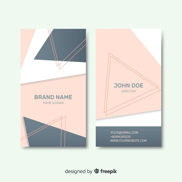 Geometric shapes business card Free Vector