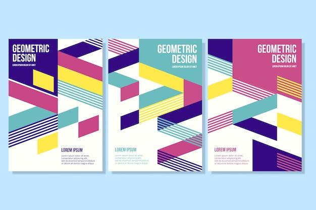 Forme geometriche sulla raccolta di copertine aziendali Vettore gratuito