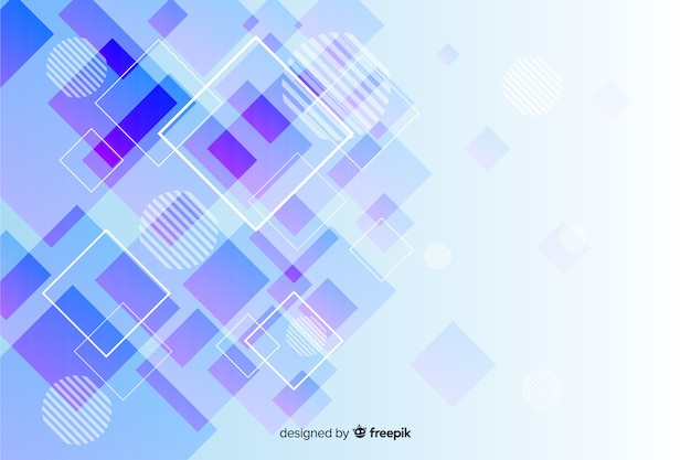 Geometric shapes collection background Free Vector