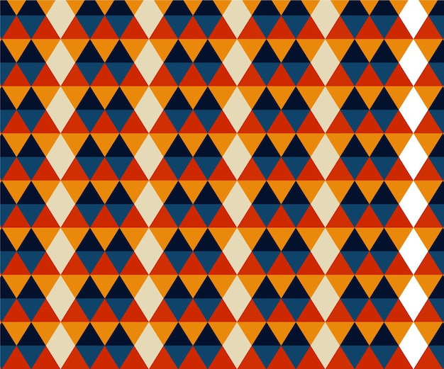 Geometric shapes groovy pattern Free Vector