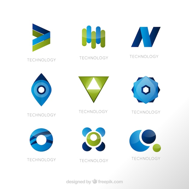 Geometric shapes logo templates Vector   Premium Download