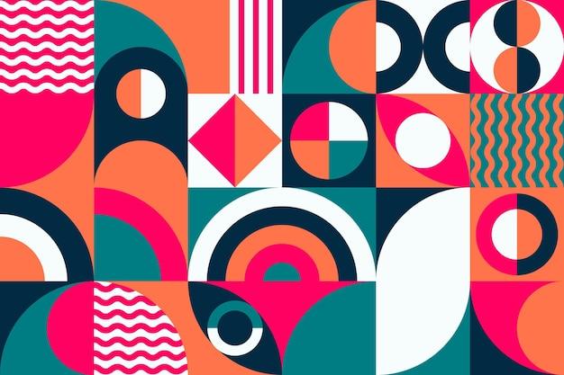 幾何学模様の壁画の壁紙 無料ベクター