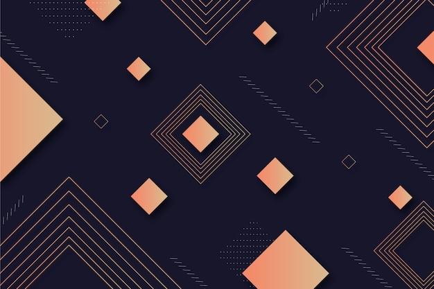暗い背景上の幾何学的図形 無料ベクター