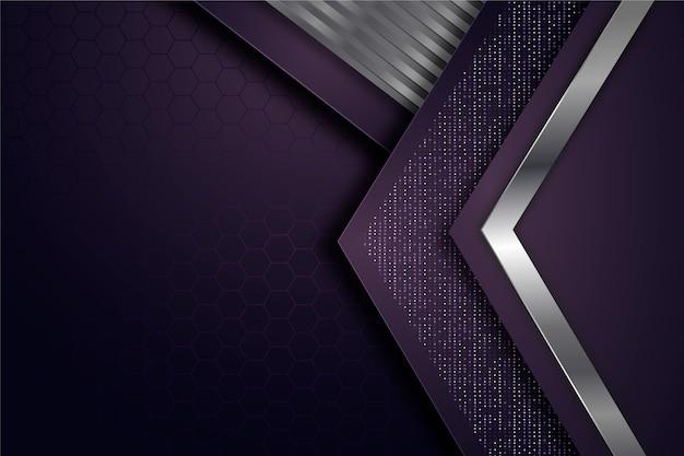 Geometric shapes wallpaper realistic design Free Vector