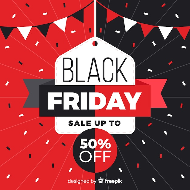 Geometric shapes with black friday sales Free Vector