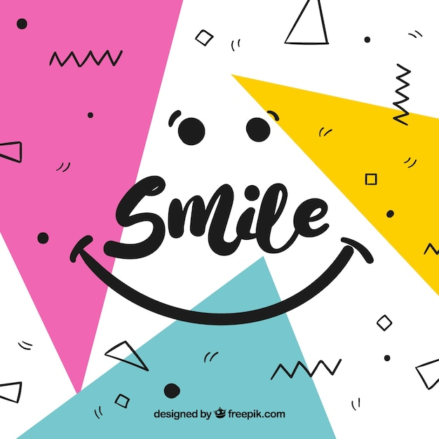 Geometric smile background Free Vector