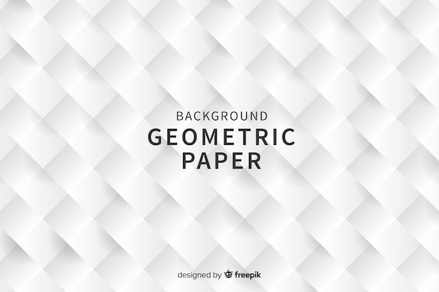 Geometric square shapes background in paper style Free Vector