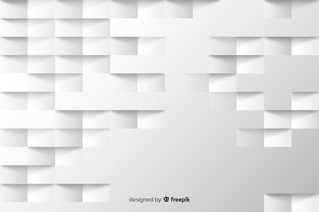 Geometric squares background in paper style Free Vector
