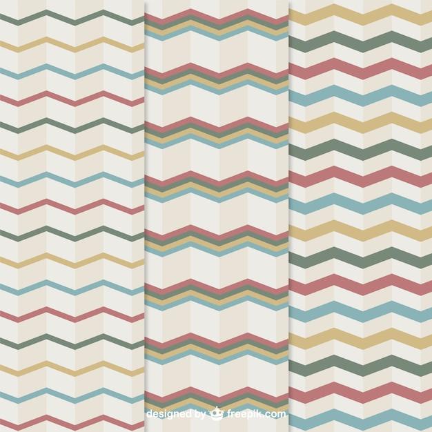 Geometric stripes pattern Free Vector