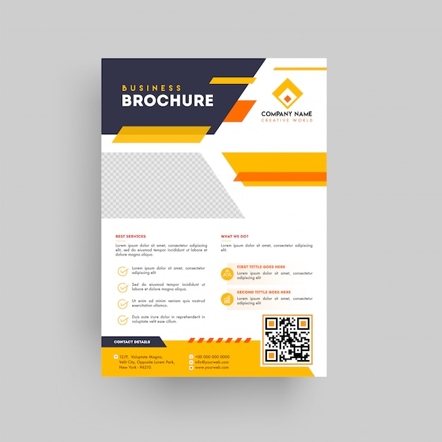 Geometric style business presentation brochure Premium Vector