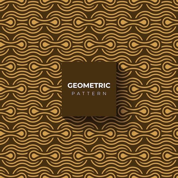 기하학적 스타일 골드 배경 또는 패턴 무료 벡터