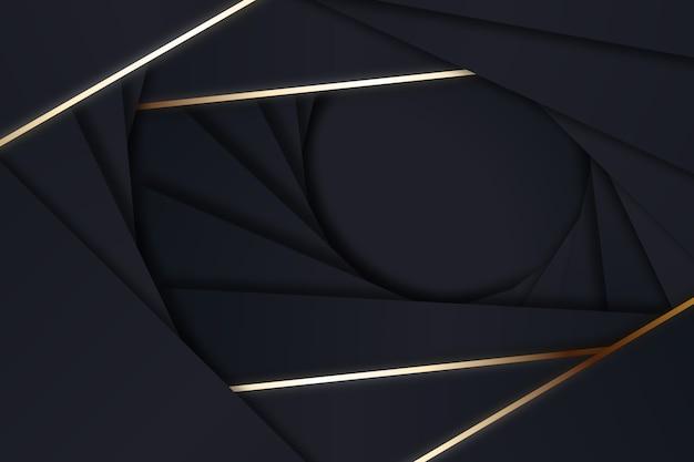 暗い背景に幾何学的なスタイルの図形 無料ベクター