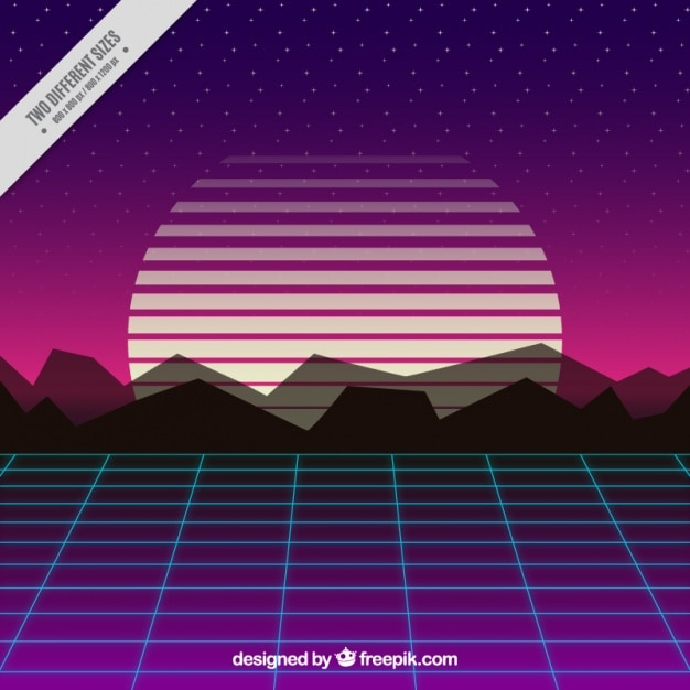 Geometric sunset background