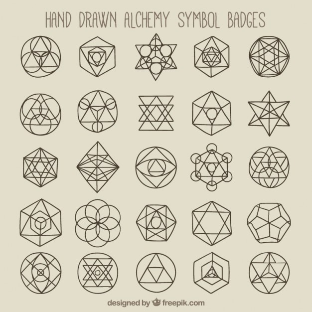 Geometric Symbols And Badges Vector Free Download