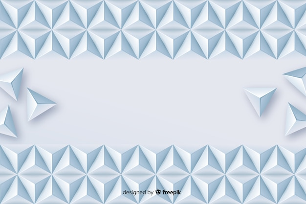 Geometric triangle shapes background in paper style Free Vector