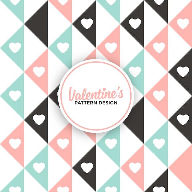 Geometric valentine's day background pattern Premium Vector