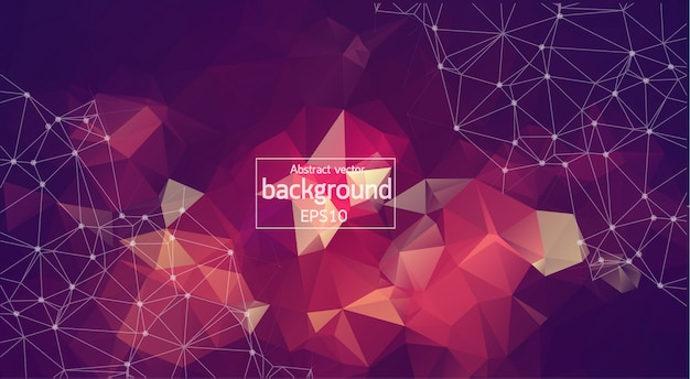 Geometric vintage polygonal background Premium Vector