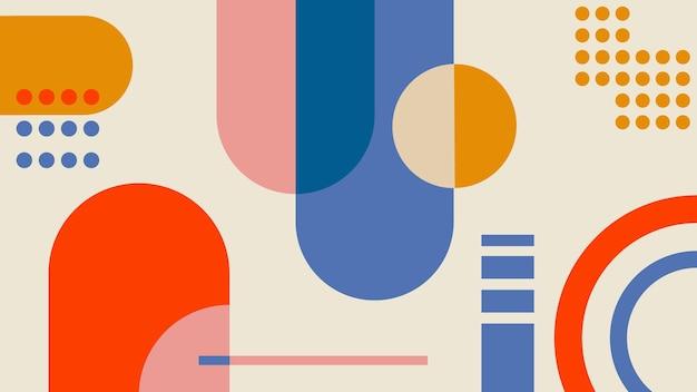 Carta da parati geometrica Vettore gratuito