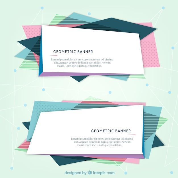 Geometric website banners Vector | Premium Download