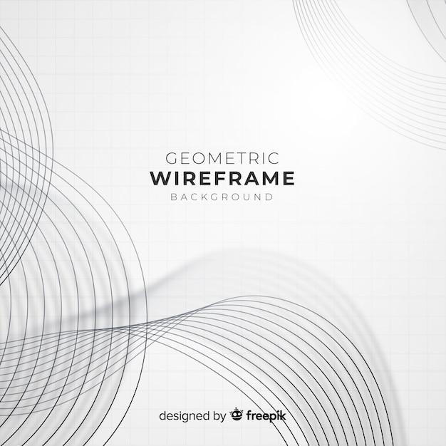 Sfondo geometrico wireframe Vettore gratuito