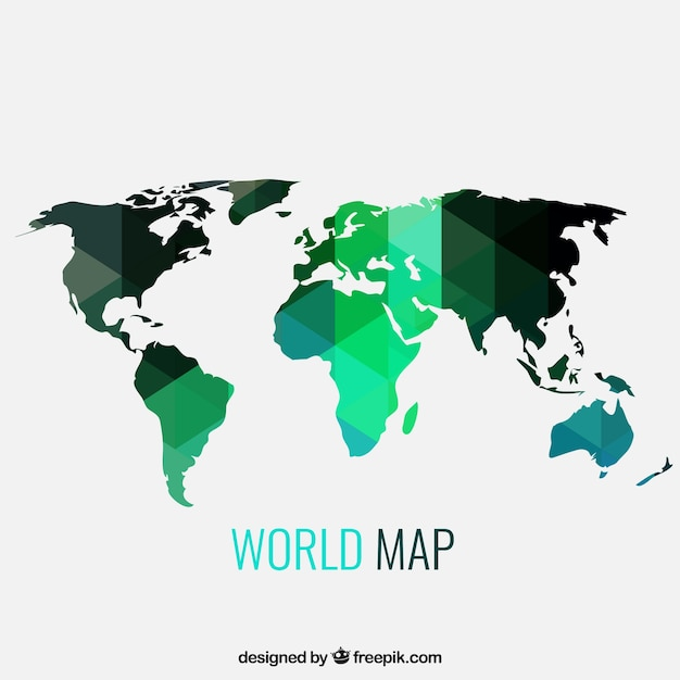 Geometric world map vector free download geometric world map free vector gumiabroncs Image collections