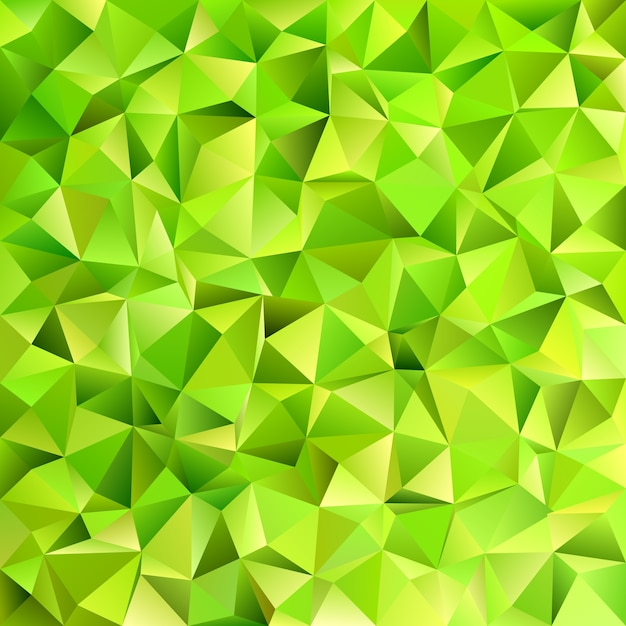 Geometrical abstract irregular triangle tile\ pattern background - vector design from triangles in lime green\ tones