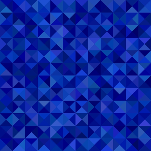 Geometrical abstract triangle mosaic pattern background - vector graphic from triangles in blue tones Free Vector