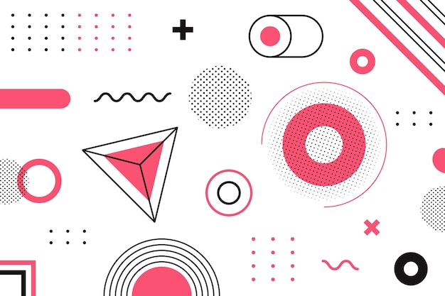 Geometrical background graphic design Free Vector